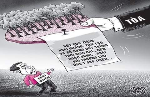 UBND huyện thua kiện người dân 300 triệu đồng