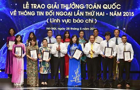 Trao giải thưởng thông tin đối ngoại cho 70 tác phẩm báo chí