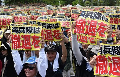Biểu tình lớn phản đối Mỹ ở Nhật