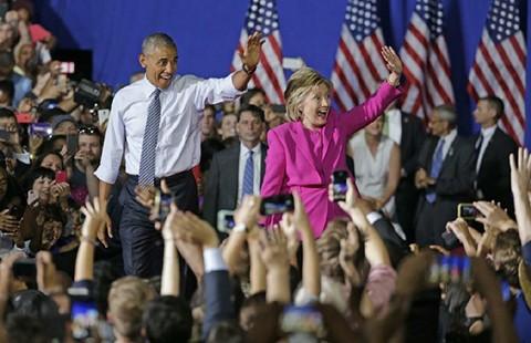 Ông Obama tiếp sức cho bà Hillary chạy đua vào Nhà Trắng