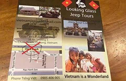 Tấm poster xuyên tạc chủ quyền Việt Nam và trò mèo