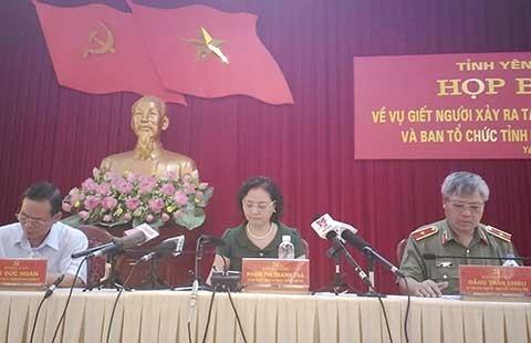 Vụ nổ súng ở Yên Bái: 'Không liên quan đến công tác cán bộ'