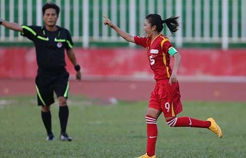 Giải bóng đá nữ VĐQG - Cúp Thái Sơn Bắc: Huỳnh Như lập hat trick