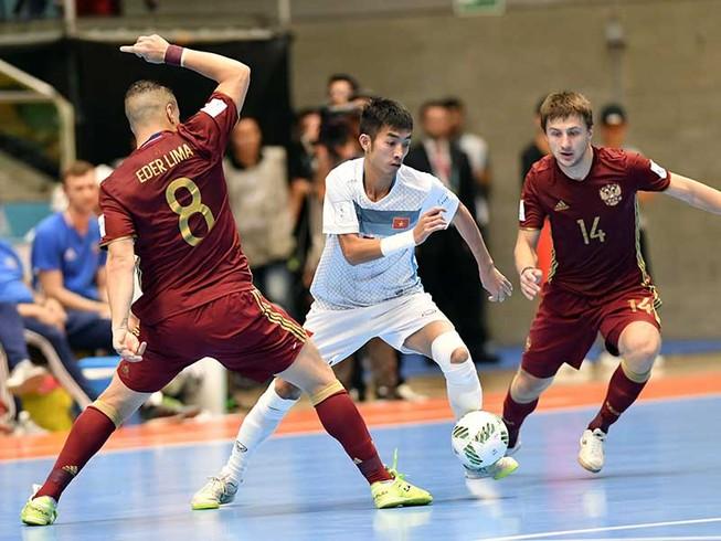 Thua đậm Nga nhưng Futsal Việt Nam vẫn để lại dấu ấn