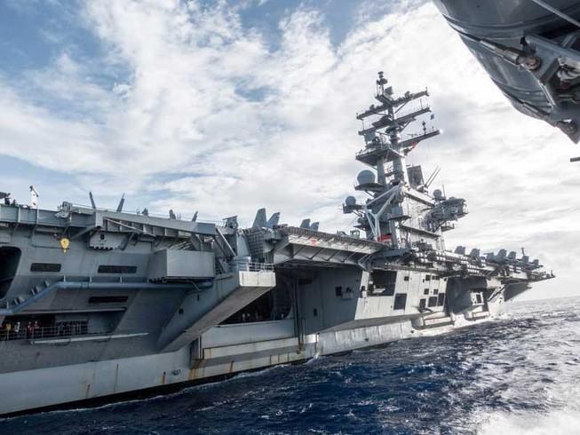 Tàu sân bay Mỹ đến Hàn Quốc tập trận hải quân