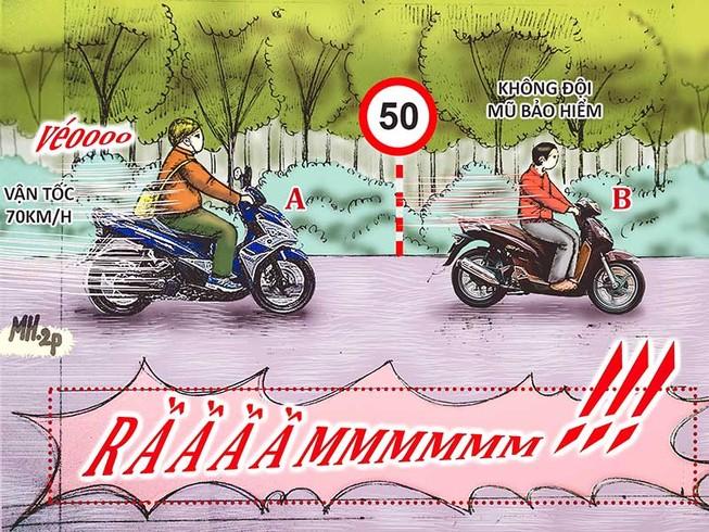 Tình huống kỳ 13: Người quá tốc độ, người không MBH