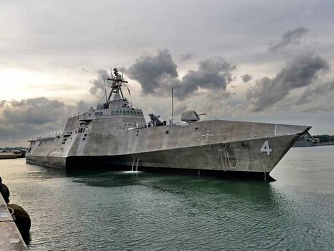Tàu tác chiến ven bờ của Mỹ đến Singapore