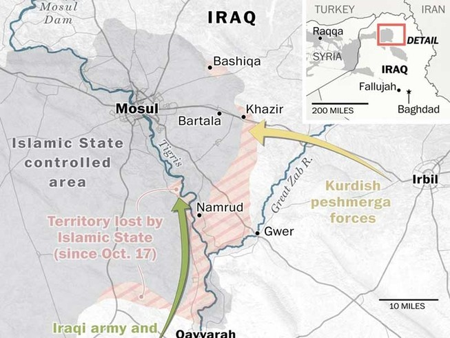 5.000-6.000 quân IS cố thủ trong Mosul