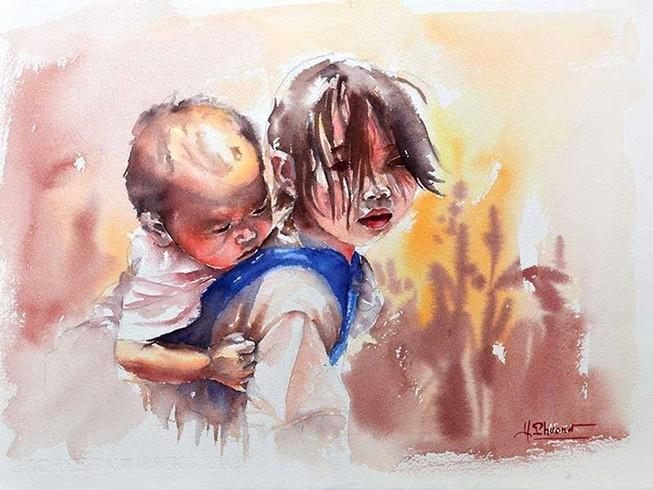 Đấu giá tranh vì trẻ em Tà Nung