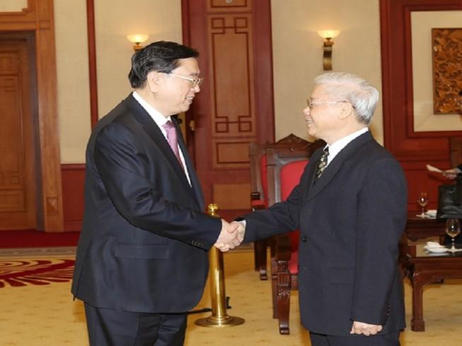 Tổng bí thư tiếp ông Trương Đức Giang