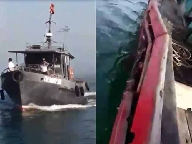 Thanh Hóa: Tàu kiểm ngư đâm chìm tàu ngư dân vi phạm