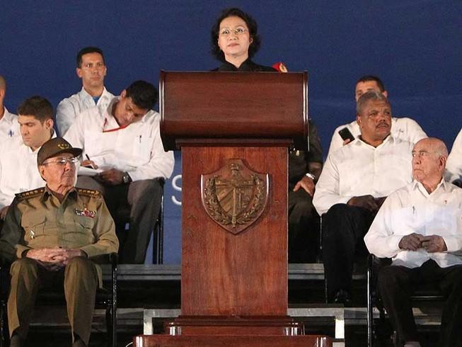 Chủ tịch QH phát biểu tiễn đưa lãnh tụ Fidel Castro