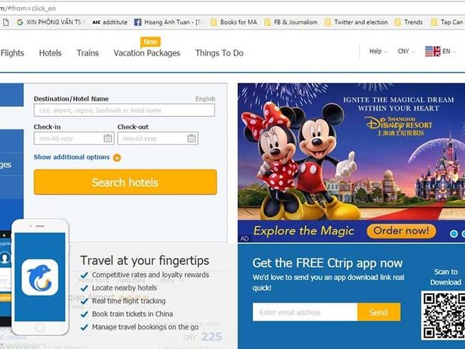 Lỡ chuyến vì mua vé bay trên mạng Trung Quốc