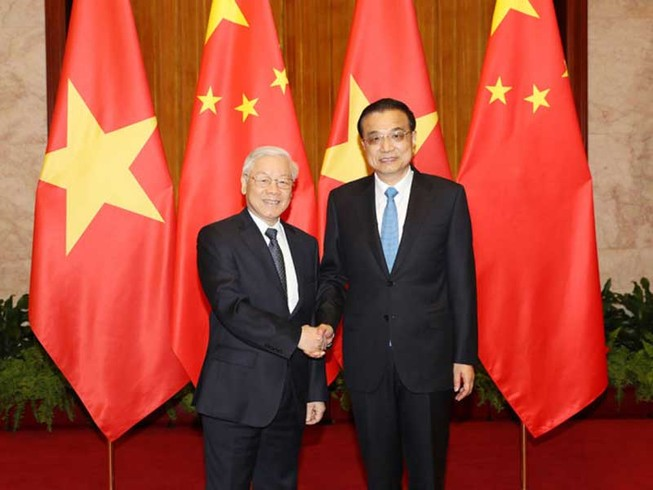 Đưa quan hệ Việt-Trung tiếp tục phát triển