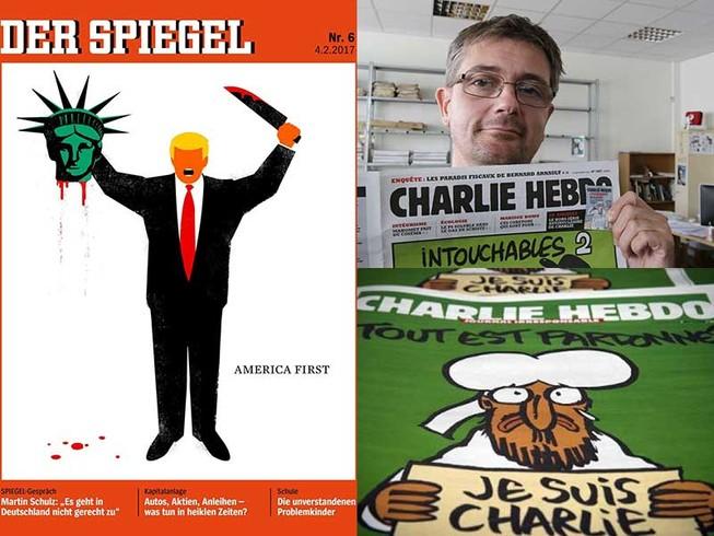 Những bức tranh biếm họa gây tranh cãi trên thế giới