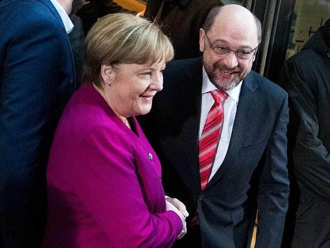 Ngày 12-1 vừa qua, Thủ tướng Đức Angela Merkel và lãnh đạo đảng Dân chủ xã hội (SDP) Martin Schulz đã đạt được bước đột phá mới trong nỗ lực thành lập chính phủ mới. (PLO)