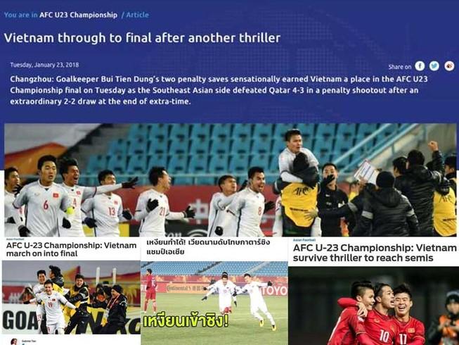 Cả Đông Nam Á đứng sau lưng đội U-23 Việt Nam