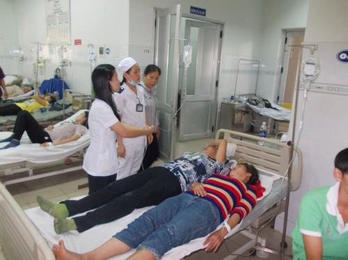 Ngộ độc khí gas, 8 công nhân nhập viện