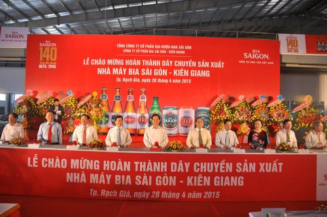 Bia Sài Gòn - Kiên Giang hoàn thành dây chuyền mới