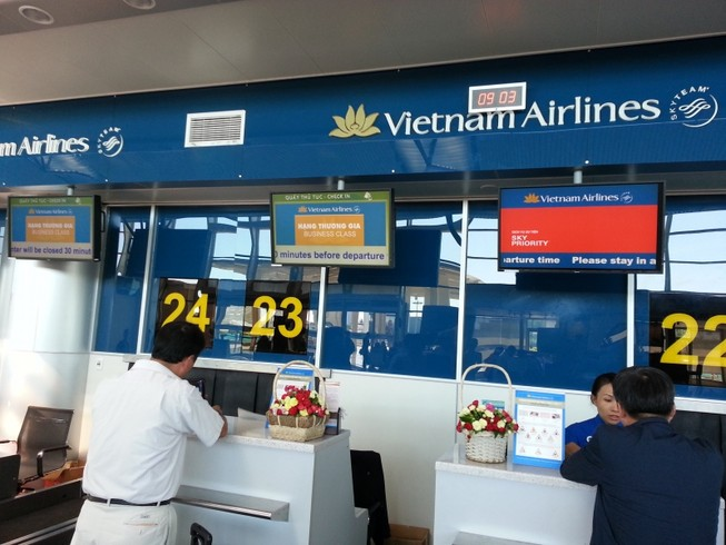 Vietnam Airlines check-in tự động tại Nội Bài, Đà Nẵng và Tân Sơn Nhất
