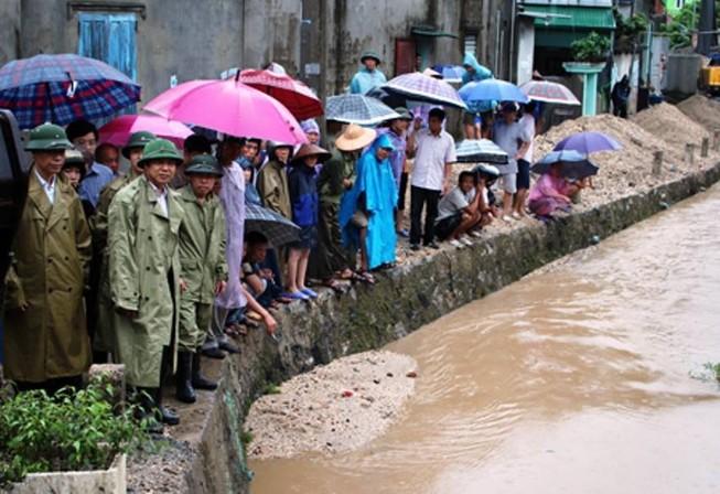 Mưa lớn ở Quảng Ninh, một người mất tích