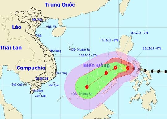 Tin mới về bão siêu Melor gần biển Đông