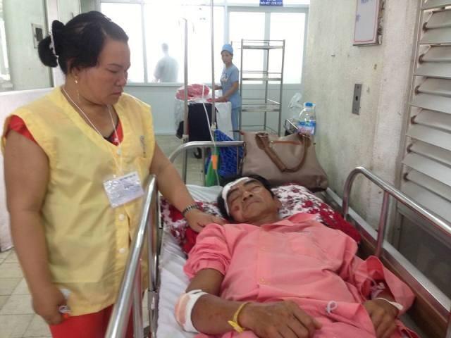 Ông Huỳnh Văn Nén bị té xe xuất huyết não, gãy xương đòn trái