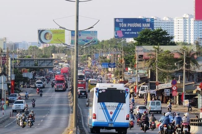 Ngày cuối nghỉ lễ, giao thông Sài Gòn thông thoáng
