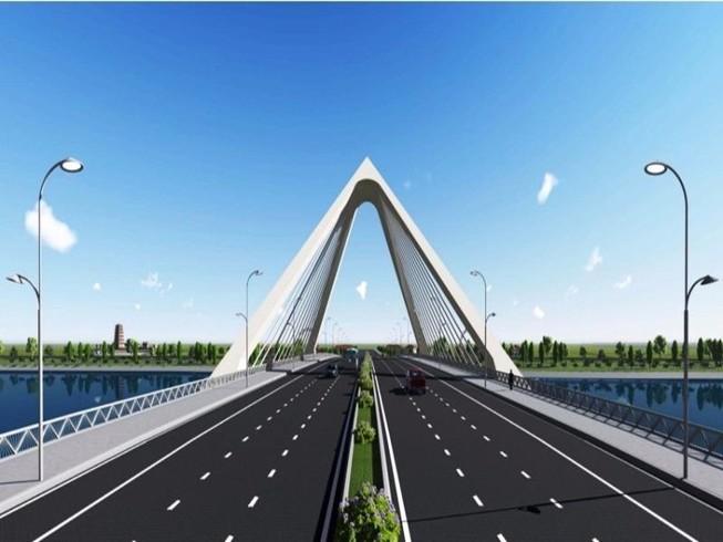Nón Huế đạt giải nhất thi kiến trúc cầu vượt sông Hương
