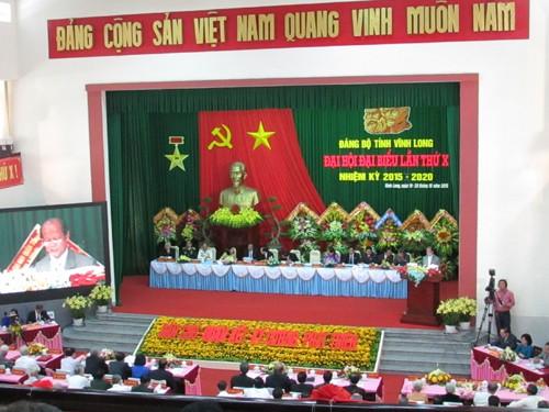 Khai mạc Đại hội đại biểu Đảng bộ tỉnh Vĩnh Long lần thứ X