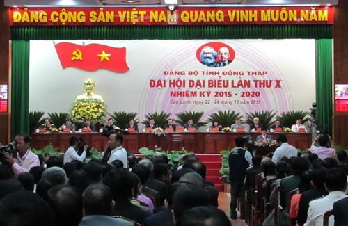 Khai mạc Đại hội đại biểu Đảng bộ tỉnh Đồng Tháp lần thứ X