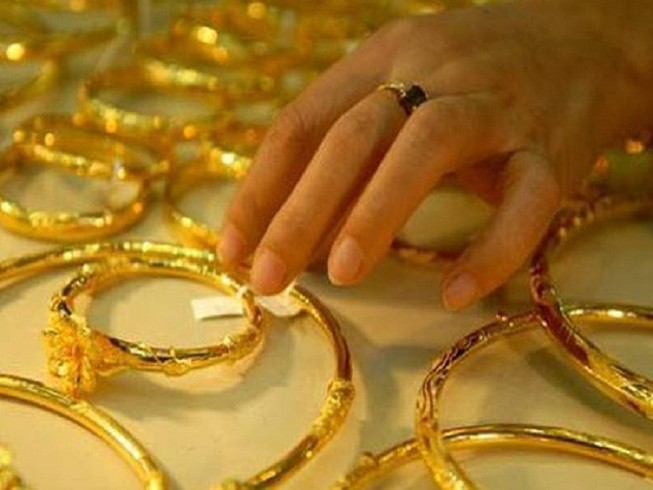 Giá vàng tăng lên mức đỉnh 6 tuần