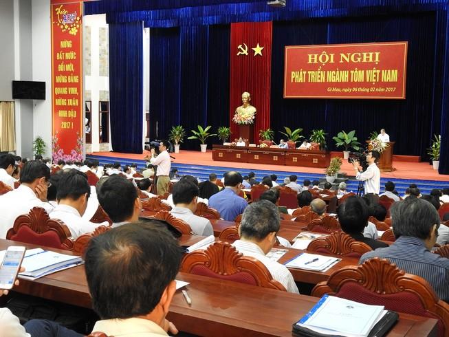 Quan cảnh Hội nghị phát triển tôm Việt Nam.