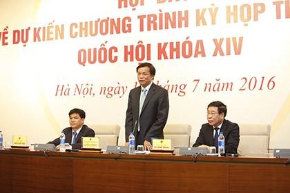 Tổng thư ký QH nói về trường hợp ông Trịnh Xuân Thanh và bà Nguyệt Hường