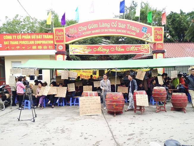 Chính quyền tổ chức họp kín vụ đóng cửa chợ Bát Tràng