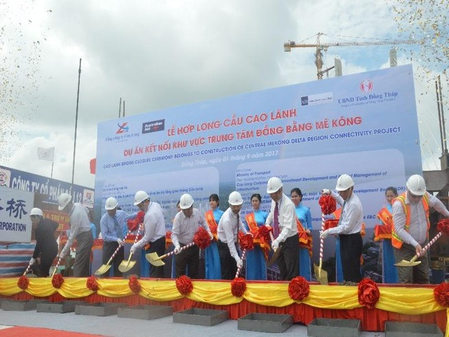 Hợp long cầu Cao Lãnh, Đồng Tháp