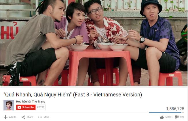 Fast and Furious phiên bản Việt hút 1,5 triệu lượt xem/tuần