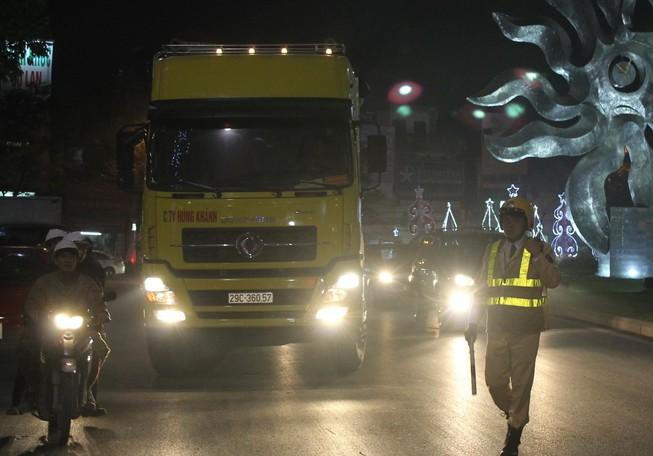 Tăng cường xử phạt xe tải đi vào giờ cấm