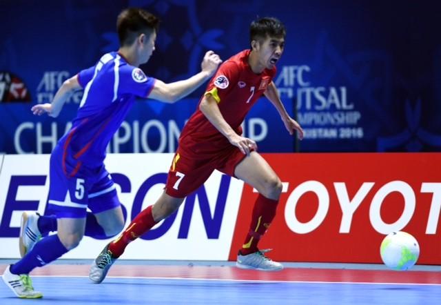 Đội tuyển VN có khởi đầu tốt tại giải futsal châu Á 2016