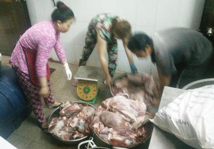 Phát hiện 1.045 kg thịt trâu không kiểm dịch