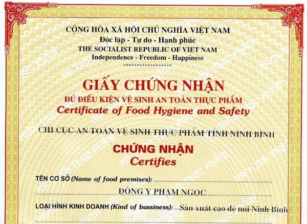 Tọa đàm về Giấy chứng nhận An toàn vệ sinh thực phẩm