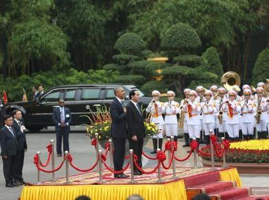 Chùm ảnh: Lễ đón chính thức Tổng thống Obama
