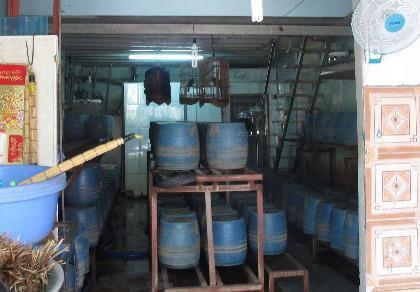 Một cơ sở trồng giá đỗ bằng hóa chất Trung Quốc
