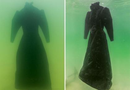 Điều gì xảy ra khi nhúng chiếc đầm xuống biển Chết trong 2 năm