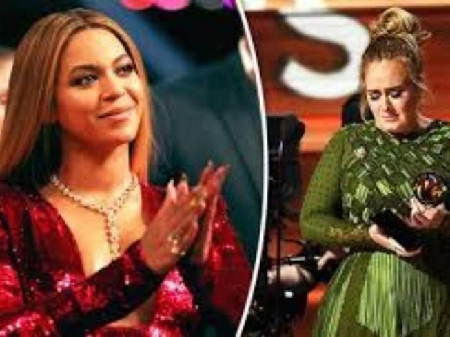 Beyoncé khóc hạnh phúc khi bị Adele 'giật' giải thưởng