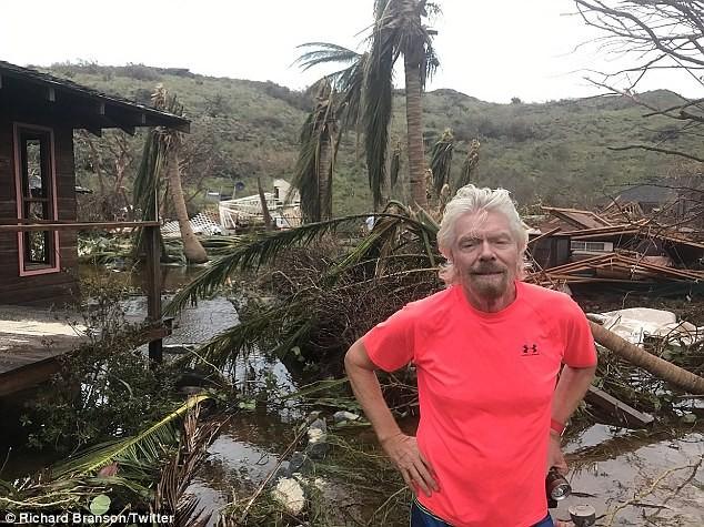 Nhà tỷ phú Richard Branson tan hoang sau bão Irma