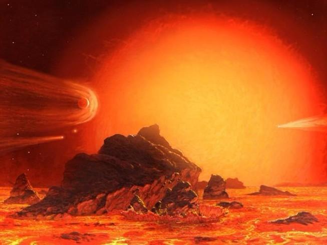 """Theo đúng quy luật, mặt trời cũng sẽ rơi vào giai đoạn """"chết"""" tương tự trong 5 tỉ năm nữa. Lúc này, mặt trời cũng sẽ lớn hơn gấp nhiều lần và nóng đến 100 triệu độ. Ảnh: RM"""