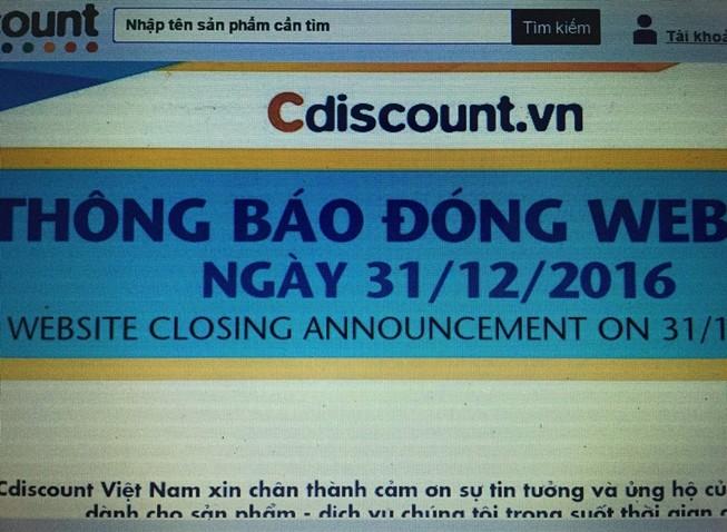 Big C đóng cửa Cdiscount là theo thỏa thuận chuyển nhượng