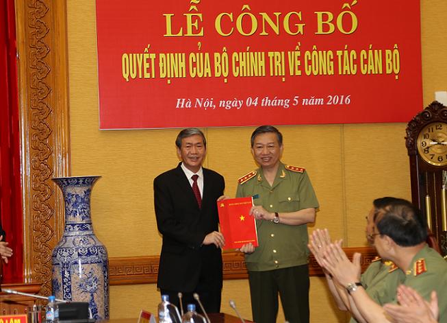 Bộ Công an có bí thư Đảng ủy Công an Trung ương mới