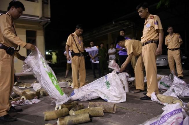 Vận chuyển ngà voi bị bắt, hối lộ CSGT 500 triệu đồng